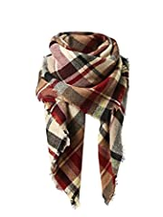 """⇒ Material & Size: Ultra Soft Cashmere-like Acrylic, furry, cozy, light and warm, close to skin. Oversized: 59"""" x 59""""(L X W). ⇒ Feature: Tartan patterns, classic, still in style now. The colors are either matching or reverse, reflecting your unique c..."""