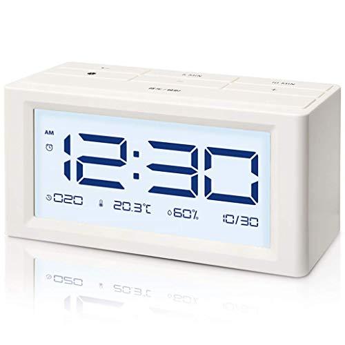 Inicio Monitoreo del tiempo Relojes multifunción Reloj despertador electrónico Modo de cuenta regresiva Fecha Humedad Temperatura Pantalla grande Pantalla de retroiluminación Estaciones meteorológicas