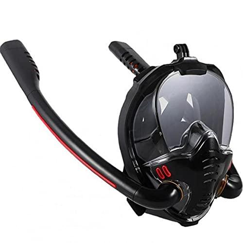 Natación Esnórquel Máscara Doble Tubo De Respiración Máscaras para Adultos En Seco De Silicona Completo De Snorkel Buceo Gafas De Equipos
