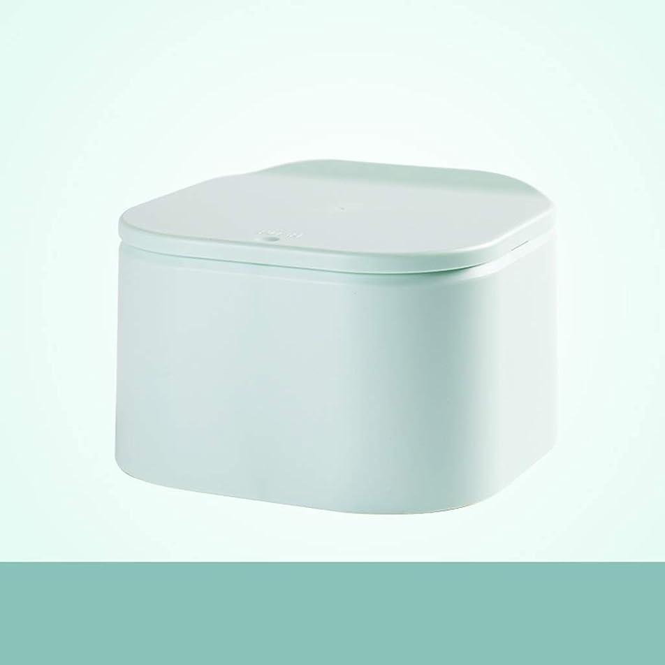 時代遅れ確立アスリートHBJP ゴミ箱デスクトップハンドプレスゴミ箱カバー付き小さな収納ボックスオープンデザイン環境保護PP素材4 Lマルチカラーオプション ゴミ箱 (色 : ブロンズ)