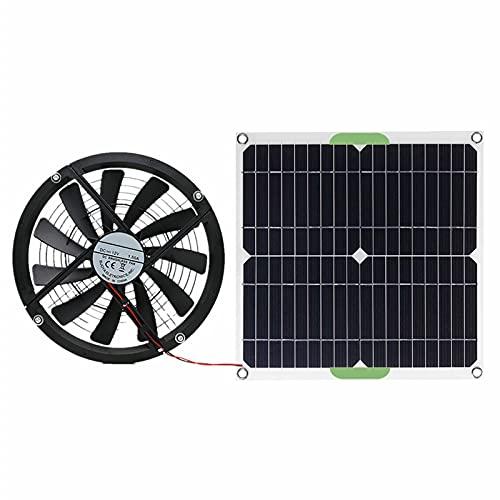 AIHOME Ventilador de escape de panel de energía solar al aire libre, ventilador extractor premium, silencioso, invernadero perro gallina casa mini ventilador