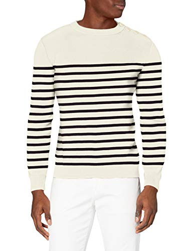 """Armor Lux, Pull Marin """"Groix"""" Homme, Blanc, XX-Large (Taille Fabricant: 2XL)"""
