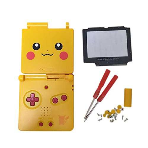 Junsi Yellow Limited Replacement Housing Shell Case Cover w/Screwdrivers for GBA SP Gameboy Advance SP