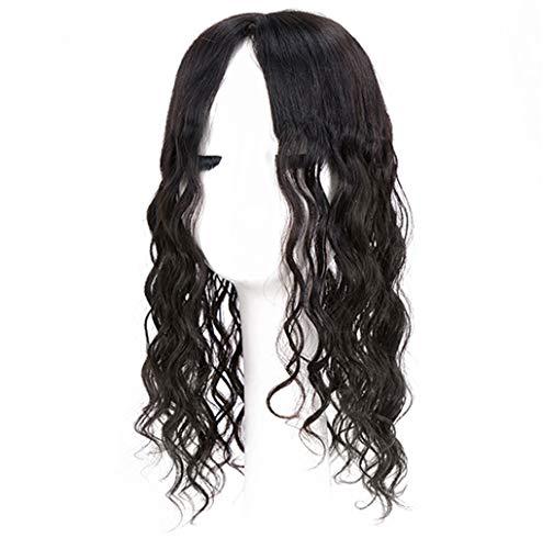 Décorations de cheveux humains avec clips en, main Tied Curly Couronne Décoration Bicolore dégradé pour cheveux Clairsemés