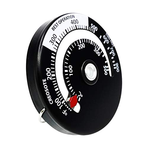 Baoblaze Magnetische Herd Thermometer Ofen Temperatur Meter für Holz Brennen Öfen Gas Öfen Pellet Herd Öfen Vermeiden Herd Fan Beschädigt für BBQ Grill Kamin