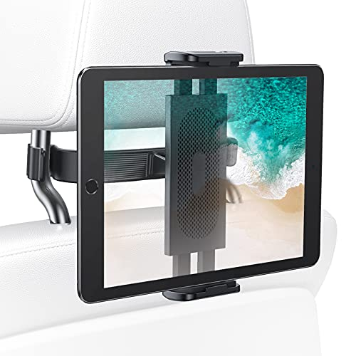 """LISEN Car Headrest Tablet Mount Holder for Car Back Seat, Compatible with 4.7-11"""" Smartphones/iPads/ Switch, Headrest Posts Width 2.55in-8.66in"""