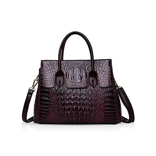 NICOLE & DORIS Taschen Handtaschen Designer Taschen Krokodil Top umhängetasche luxuriöse Ledertasche Damen PU Leder Maulbeere