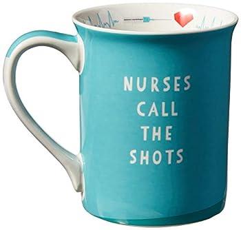 """Enesco Our Name is Mud """"Nurse Uniform 16 oz Stoneware Mug 16 Ounces Blue"""