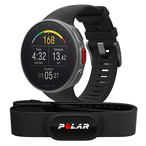 Polar Vantage V HR - Premium GPS Watch with Heart Rate - H10 Sensor - Multisport and Triathlon Profile - Running Power, Ultra Long Battery, Water Resistant - Black