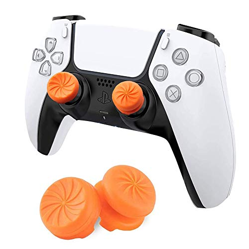 MAXKU FPSフリーク PS5 PS4 コントローラー用 親指グリップキャップ 可動域アップ プレイステーション5コントローラ用 FPS Freek 2つのパフォーマンスサムスティック(オレンジ)