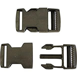 PLASTIC DELRIN SIDE RELEASE BUCKLES CLIPS FOR WEBBING - 20MM/25MM/50MM (20mm)
