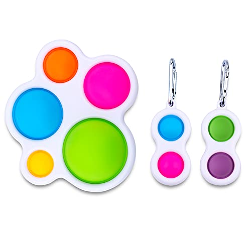 pop it simple dimple SerDa-Run 3 Pezzi di Simple Dimple Fidget Toy Pop It Giocattoli Sensoriali di Semplici Fossette Set di Giocattoli Anti-Stress per Bambini e Adulti