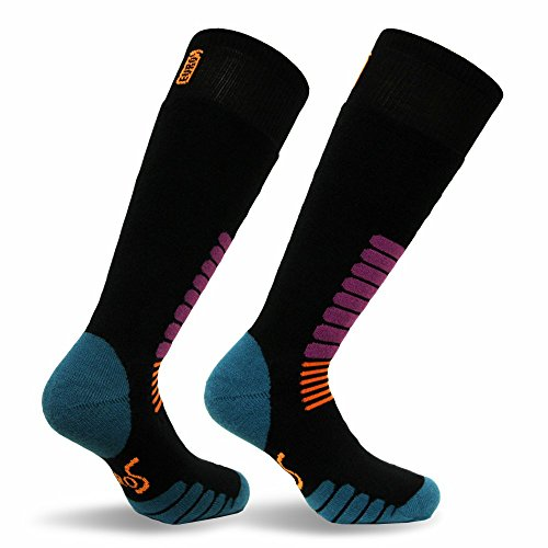 Eurosocks Micro-Supreme Over The Calf Ski Zone Socks,Black, Small