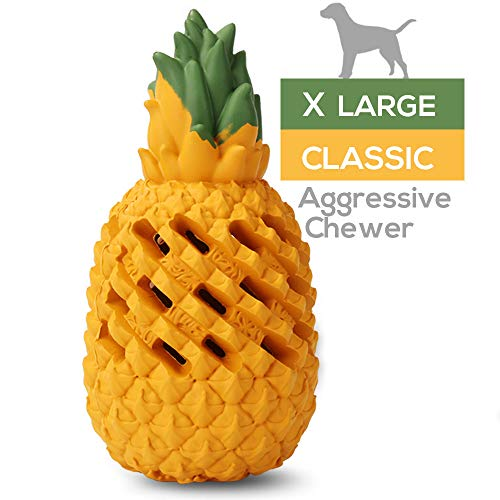 M.C.works Pineapple Dog Chew Toys for Aggressive Chewer, Tough Dog Dental Chews Toy, Indestructible Dog Toys for Large Dogs, Puppy Chew Toys Food Grade.