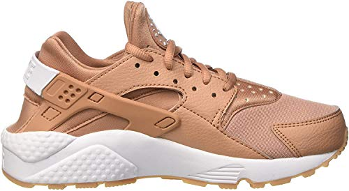 Nike Damen Air Huarache Run Trainer, Beige (Dusted Clay/White/Gum Yellow), 36.5 EU