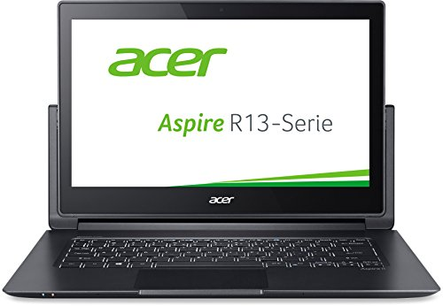 Acer Aspire R 13 (R7-372T-53E0) 33,8 cm (13,3 Zoll Full HD IPS) Convertible Laptop (Intel Core i5-6200U,8GB RAM, 256GB SSD, Intel HD Graphics 520, Win 10 Home, Multi-Touch) grau