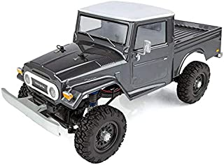Team Associated 40004 CR12 Toyota FJ45 Pickup Truck Ready to Run, Electric 1/12 Scale 4WD, Brushed (Gray)