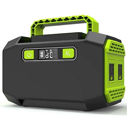 JAY-LONG Generador De Energía Portátil Estación De Inversor De Respaldo De Emergencia con Salidas De CA Duales De 110V / 220V, 2 Puertos USB 3 DC Alimentación Al Aire Libre ✅