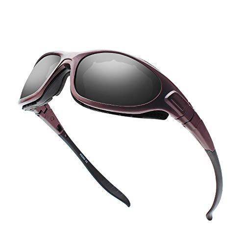 Gafas de sol polarizadas para montar en motocicleta con forro de espuma para hombres y mujeres con antivaho y resistente al viento