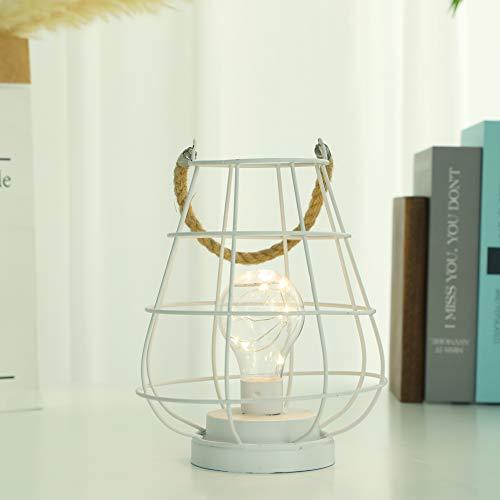 JHY DESIGN Jaula de inalámbrica lamparas metal lamparitas LED con batería luz de acento...