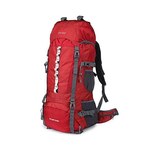 アウトドア 旅行 ハイキング トレッキング キャンプ 登山用 バックパック 防水 メンズ 旅行 (Color : Red)