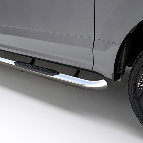 ARIES 207003-2 3-Inch Round Polished Stainless Steel Nerf Bars, No-Drill, Select Hyundai Santa Fe