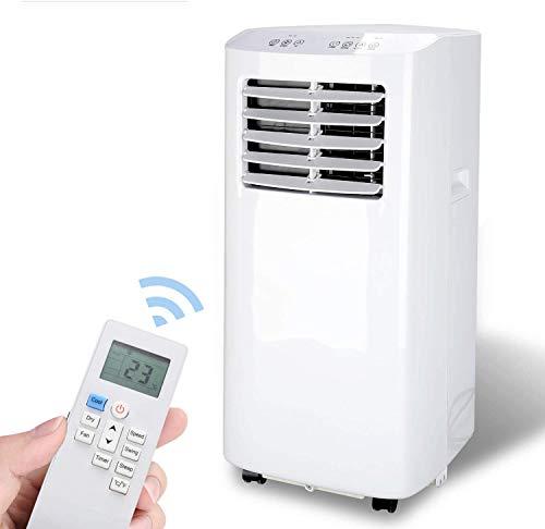 Hengda 3 in 1 Mobiles Klimagerät, 7000 Btu Klimaanlage mit Fensterdichtung,Multi Edition Aircooler,Luftentfeuchter und Ventilator mit Schlafmodus,für Räume bis 30㎡