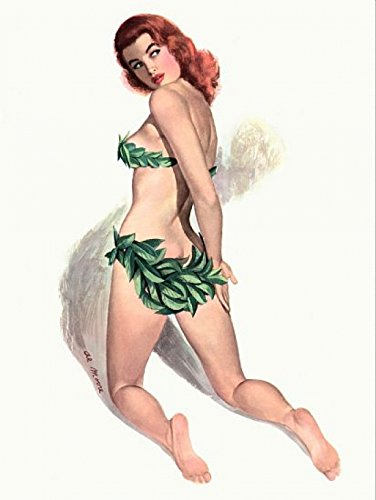 The Poster Corp Pinup Girl Redhead with Bikini Made Out of Kunstdruck (60,96 x 91,44 cm)