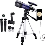 MAXLAPTER Telescope - Portable Travel Scope for Astronomy Beginners Kids, 300/70 HD Large
