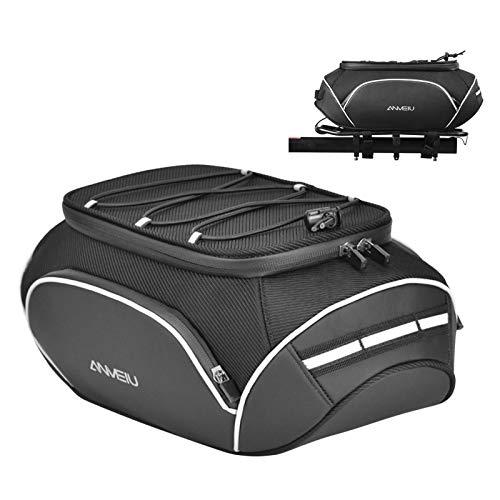 Bolsa reflectante repelente al agua para bicicleta, capacidad de 11 L, resistente, carcasa dura, asiento trasero, bolsa de transporte de equipaje multifunción, bolsa de ciclismo