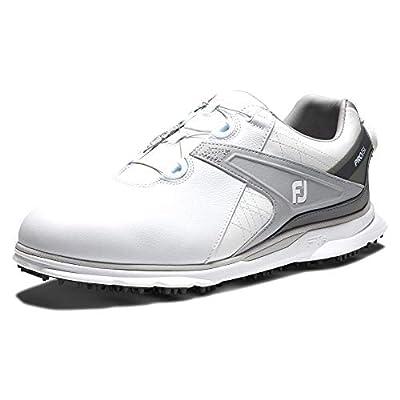 FootJoy Men's Pro/SL Boa Golf Shoes, White/Grey, 11 M US
