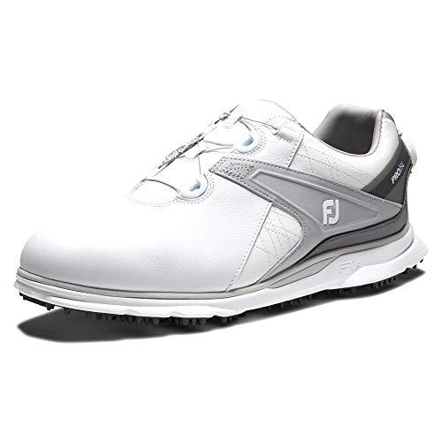 FootJoy Pro SL, Zapatos de Golf para Hombre, Blanco/Gris, 41 EU