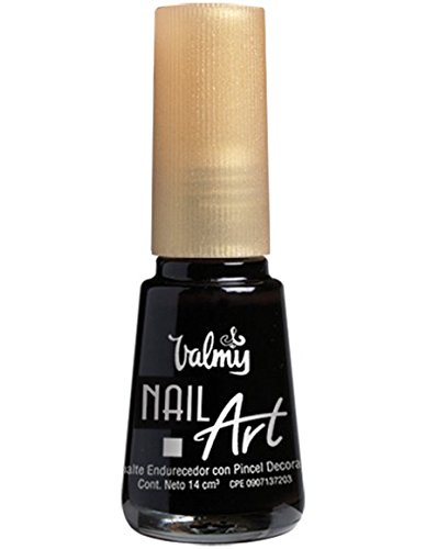 Valmy Pintauñas Nail Art Decorativo con Pincel de Precisión – Esmalte de Uñas de Larga Duración Para Manicura Francesa, Decoración o...