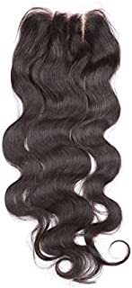 Fennell 3 Part Closure Body Wave Brazilian Hair 130 Density Lace Closure Natural Hair Color Soft and Silky (8 Inch)