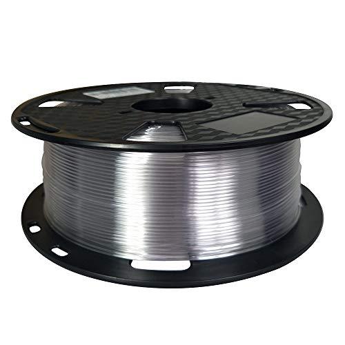 Filamento PETG transparente de fácil impresión PETG de 1,75 mm, 1 kg, filamento para impresora 3D...