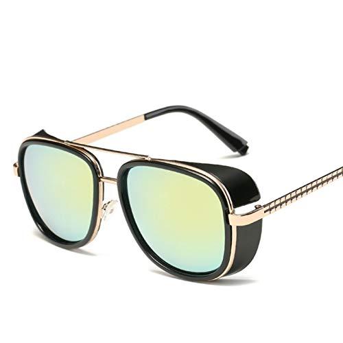 UKKD Gafas De Sol Para Hombre Stark Gafas De Sol Hombres Rossi Recubrimiento Retro Vintage Designer Sun Glasses Oculos Masculino Gafas Del Uv400
