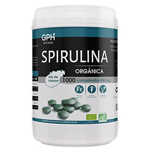 Spirulina Orgánica - 500 mg - 1000 comprimidos
