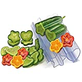 2PCS Star Shape Growing Molds for Planting Cucumber - Heart Shaped Cucumber Shaping Mold Garden Vegetable Growth Forming Mould Tool - Transparent Fruit Shaping Growth Molds (A)