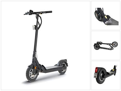 EGRET TEN V4 36 V E-Scooter Elektro Roller 350 Watt Motor (95806-B) 20 km/h bis zu 30 km Reichweite schwarz Straßenzulassung mit ABE