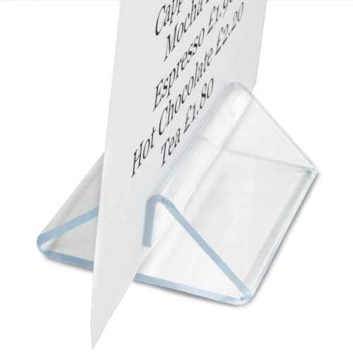 Perspex Tent Type Menu Holder - Set of 10 Menu Display Holder, Table Top Sign Display - Suitable for A4 and A5