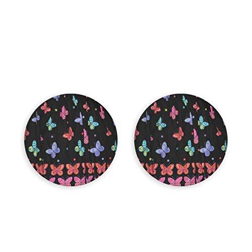 Apribottiglie Farfalle colorate Nere Magneti per frigorifero Cavatappi per montaggio a parete in acciaio inossidabile rotondo 2PC