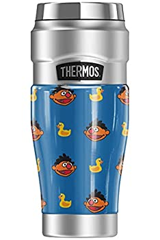 Sesame Street Ernie and Rubber Ducky Pattern THERMOS STAINLESS KING Stainless Steel Travel Tumbler Vacuum insulated & Double Wall 16oz
