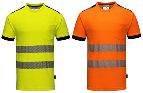 Portwest Portwest T181ORRXXL Vision Hi-Vis T-Shirt, Größe XXL, Orange