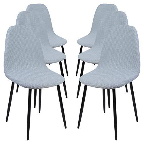 Sfit - Funda de silla escandinava para silla de comedor, extensible, estampada, funda de silla lavable, protección de silla para casa