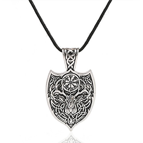 cooltime Viking Warrior Epaulet Mens Pendant Necklace Norse Amulet Jewelry