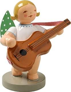Wendt & Kuhn Handpainted Wooden Grunhainichen Angel with Guitar