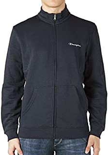 Champion Full Zip Long Sleeve Sweatshirt - Navy-L