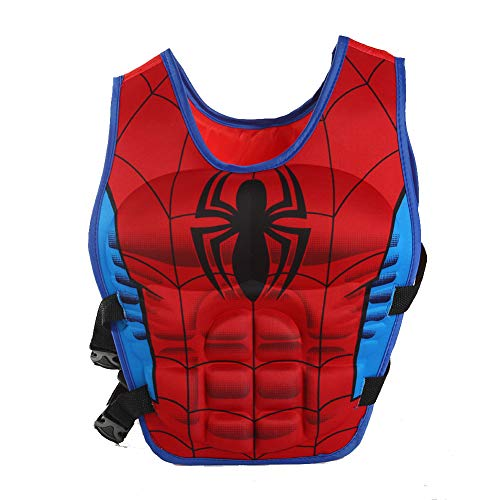 Bellagione Kids Swimming Vest Child Life Jacket Boys Girls Floating Swim Device Learn-to-Swim Aid with Adjustable Safety Strap Large Size (Spiderman, Large)