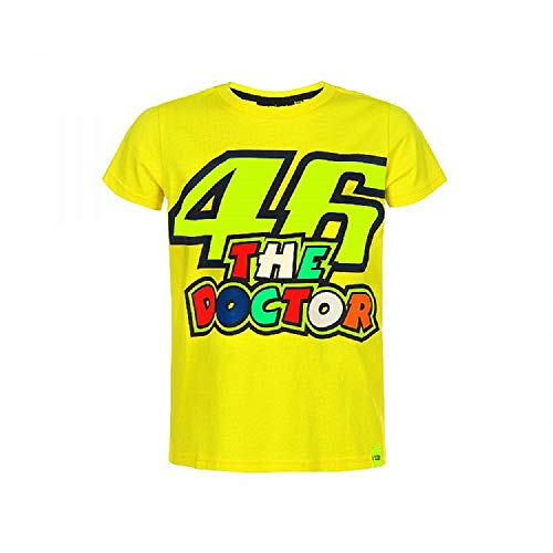 Valentino Rossi VRKTS353401003, T-Shirt 46 The Doctor Bambino Unisex, Giallo, 12/14 anni