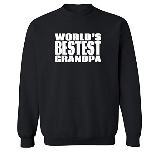 World's Bestest Grandpa Crewneck Sweatshirt in Black - XX-Large